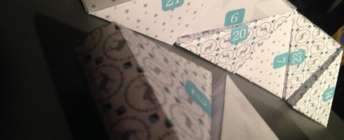 Calendrier de l'avent en papier DIY